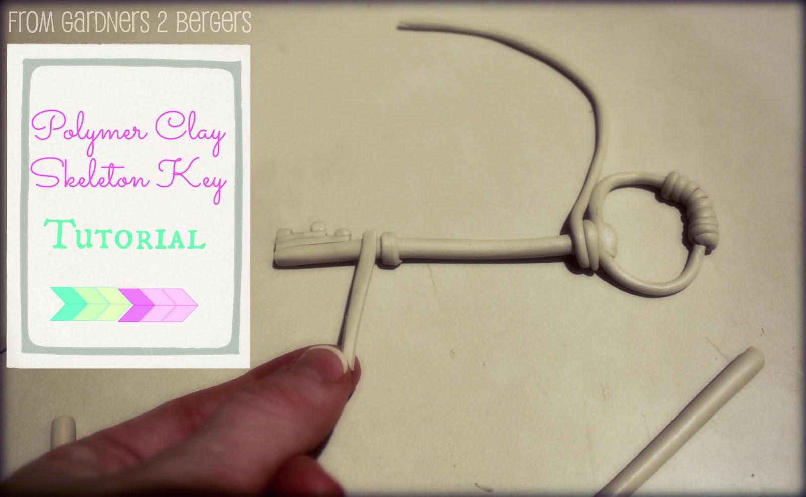Polymer Clay Skeleton Keys [Tutorial]