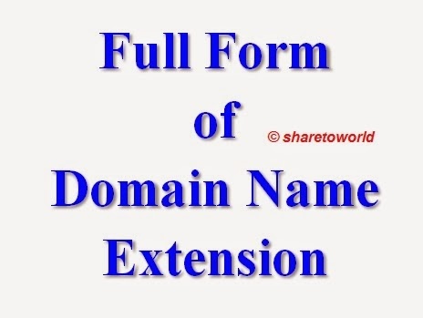 List of Full Form of Domain Name Extensions