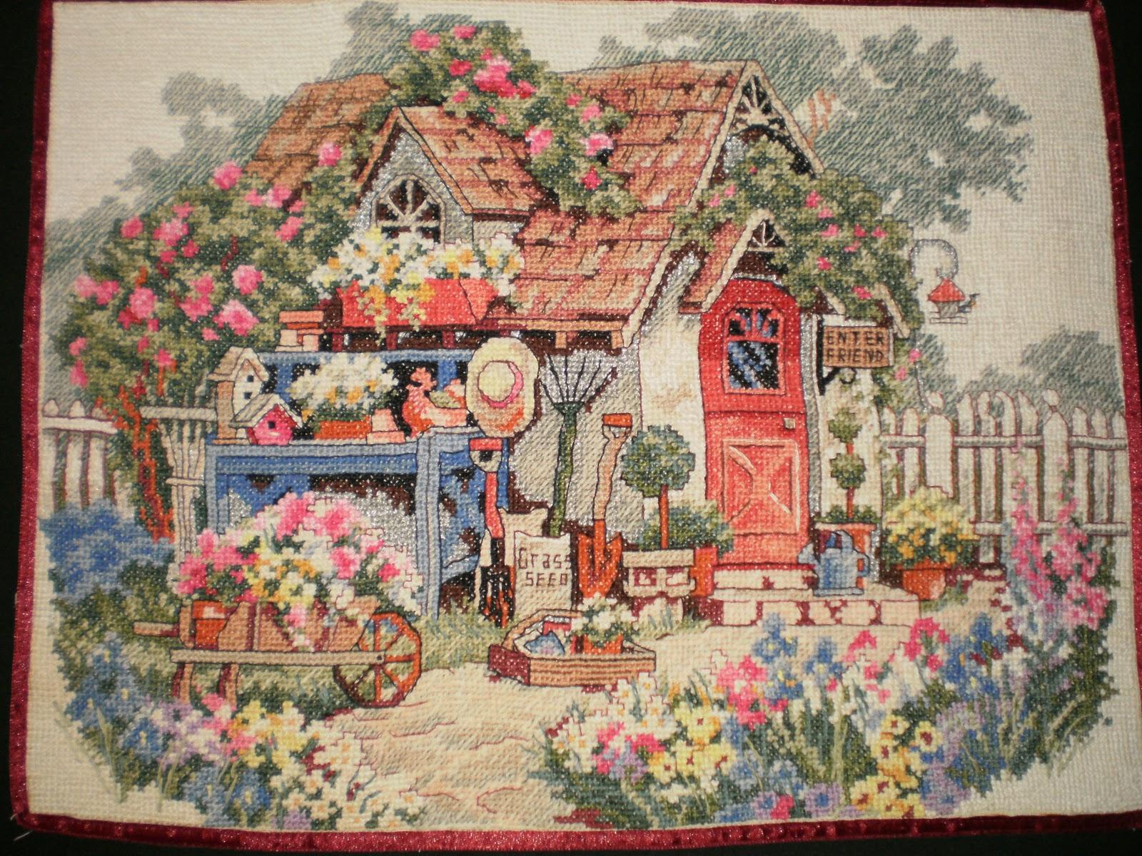 Вышивка крестом схемы домов 73