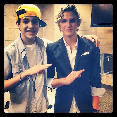Austin Mahone and Cody Simpson - 2012