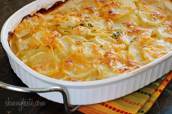 Skinny Scalloped Potato Gratin from SkinnyTaste.com