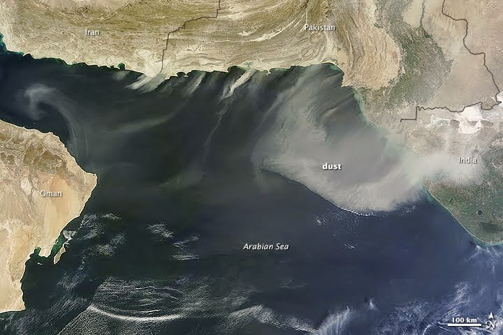 Dust over Arabian Sea