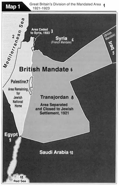 Границы подмандатной территории