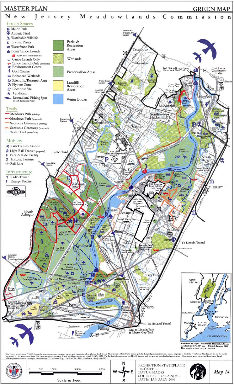 The Hackensack Meadowlands In The Imagery History Of A Deep - Us wildlife map of the 1400s