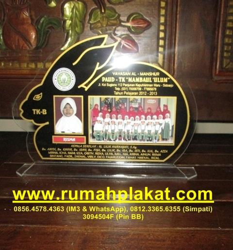 Bentuk Vandel Wisuda Unik, Vandel Marmer TK Murah, Desain Vandel Akrilik Malang, 0812.3365.6355, www.rumahplakat.com