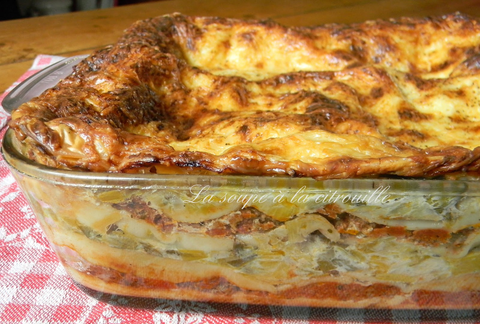 la soupe la citrouille lasagnes aux poireaux et viande mijot e
