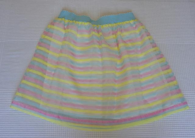 Rebajas falda rayas colores