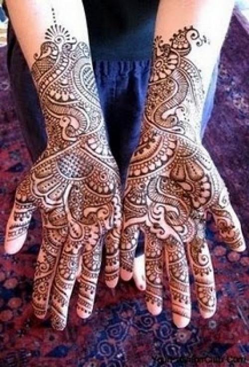 Mehndi Bridal Style : Latest style bridal mehndi designs choice