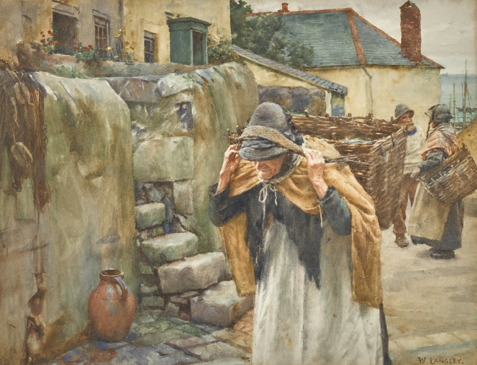 Walter Langley Carrying The Catch