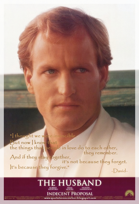 Quote To Remember Indecent Proposal 1993