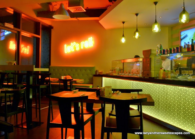casual and funky sushi restaurant in Dubai