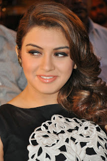 Actress Hansika Motwani Latest Pictures in Black Dress at Maga Maharaju Audio Launch  2