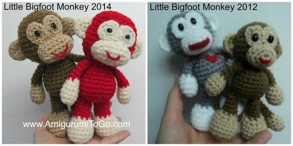 Amigurumi To Go Tutorial : Little bigfoot monkey revised pattern video tutorial