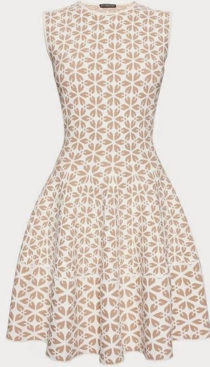Alexander McQueen Embossed Cut Out Flower Jacquard Mini Dress