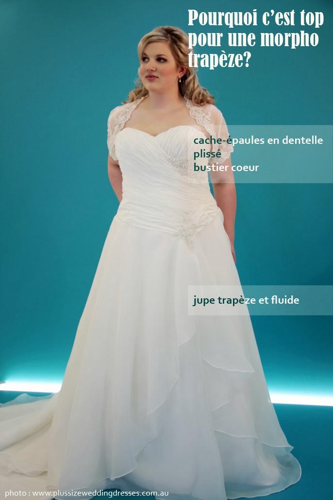 Robe de mariee fluide femme ronde