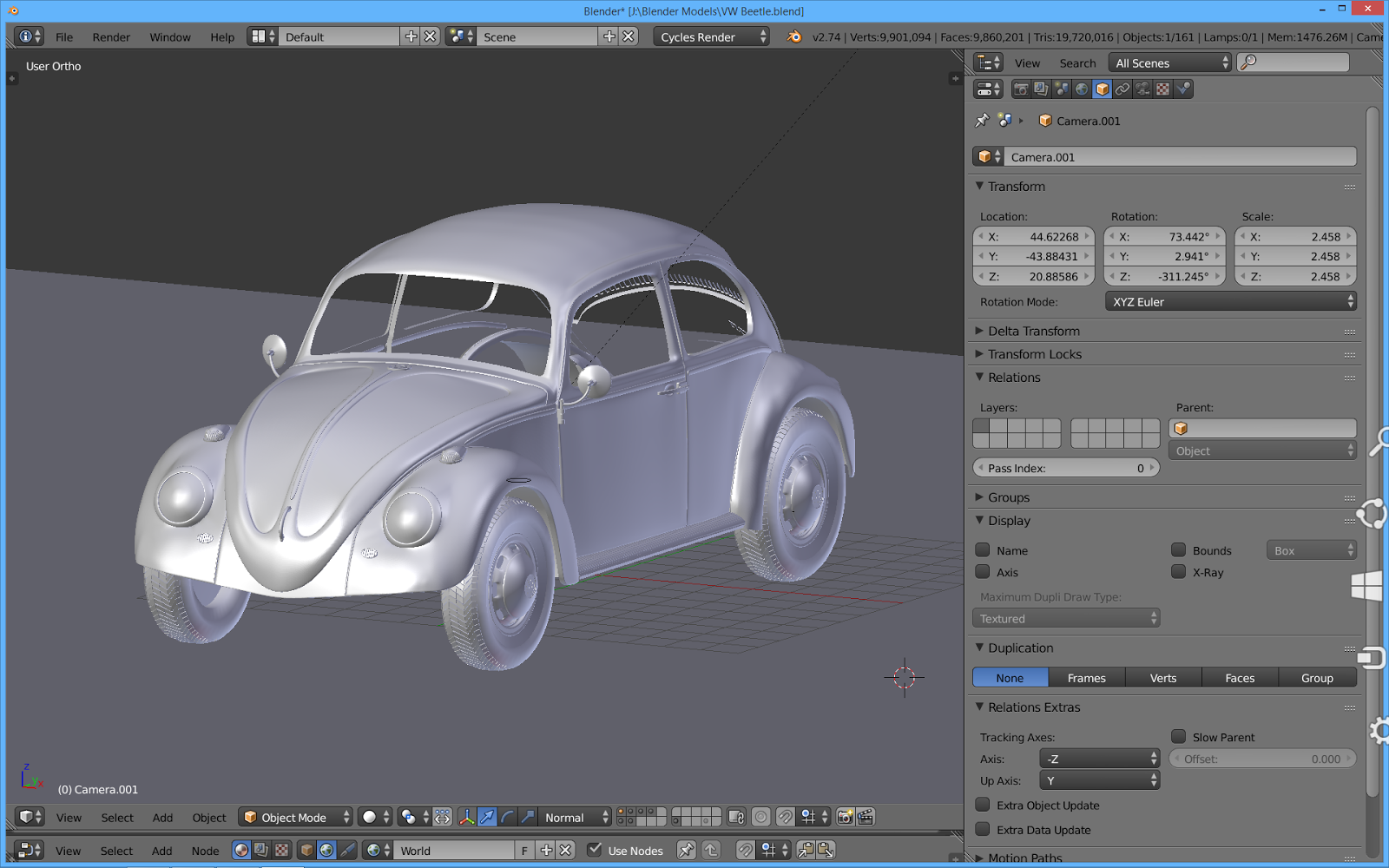 The Tinkers Workshop Blender 3d 1963 Vw Beetle In Progress