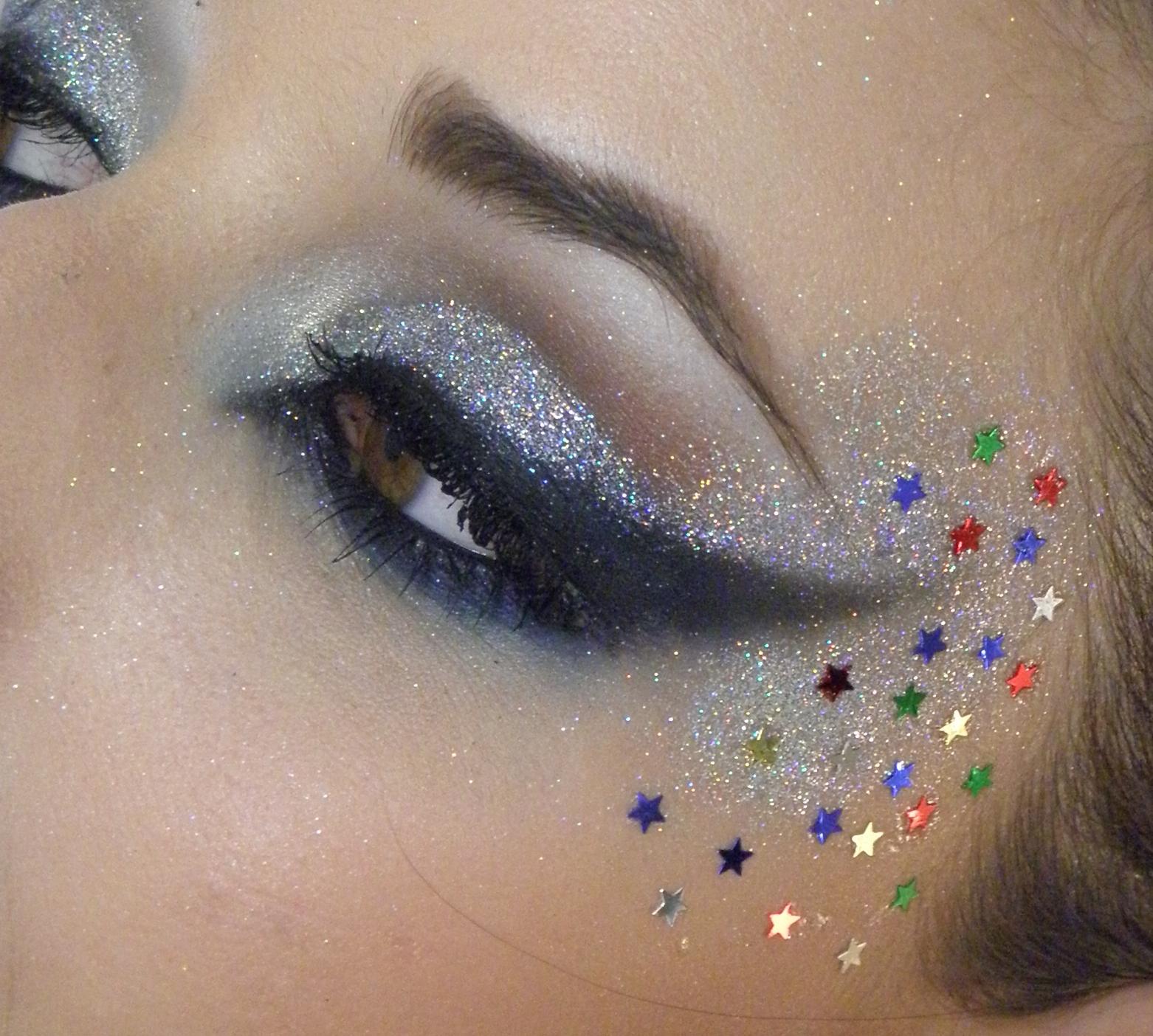 glitter make up carnaval