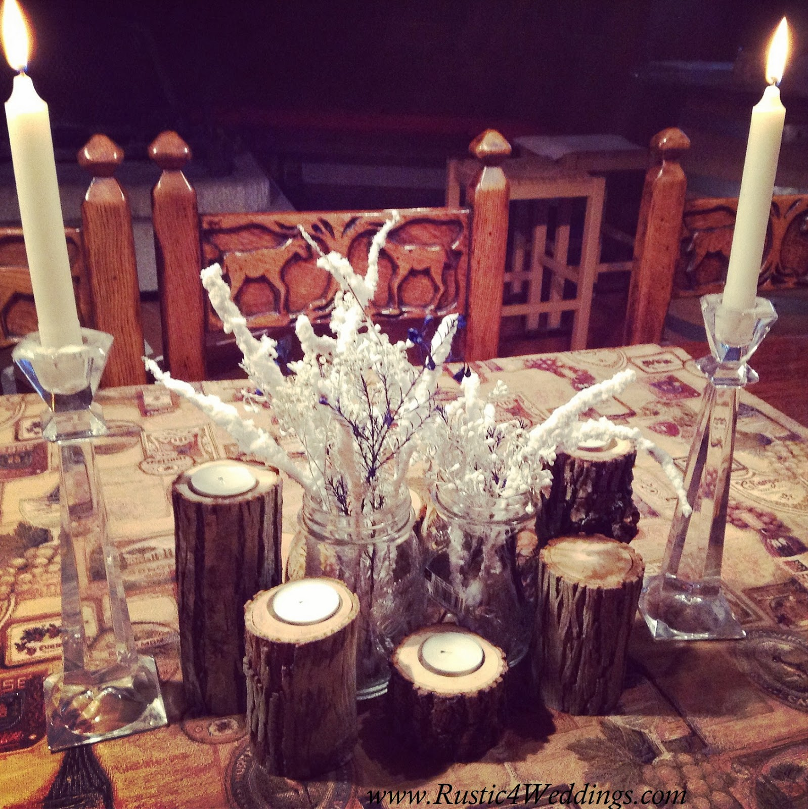 Rustic 4 Weddings Rustic Snack And Buffet Table Setting