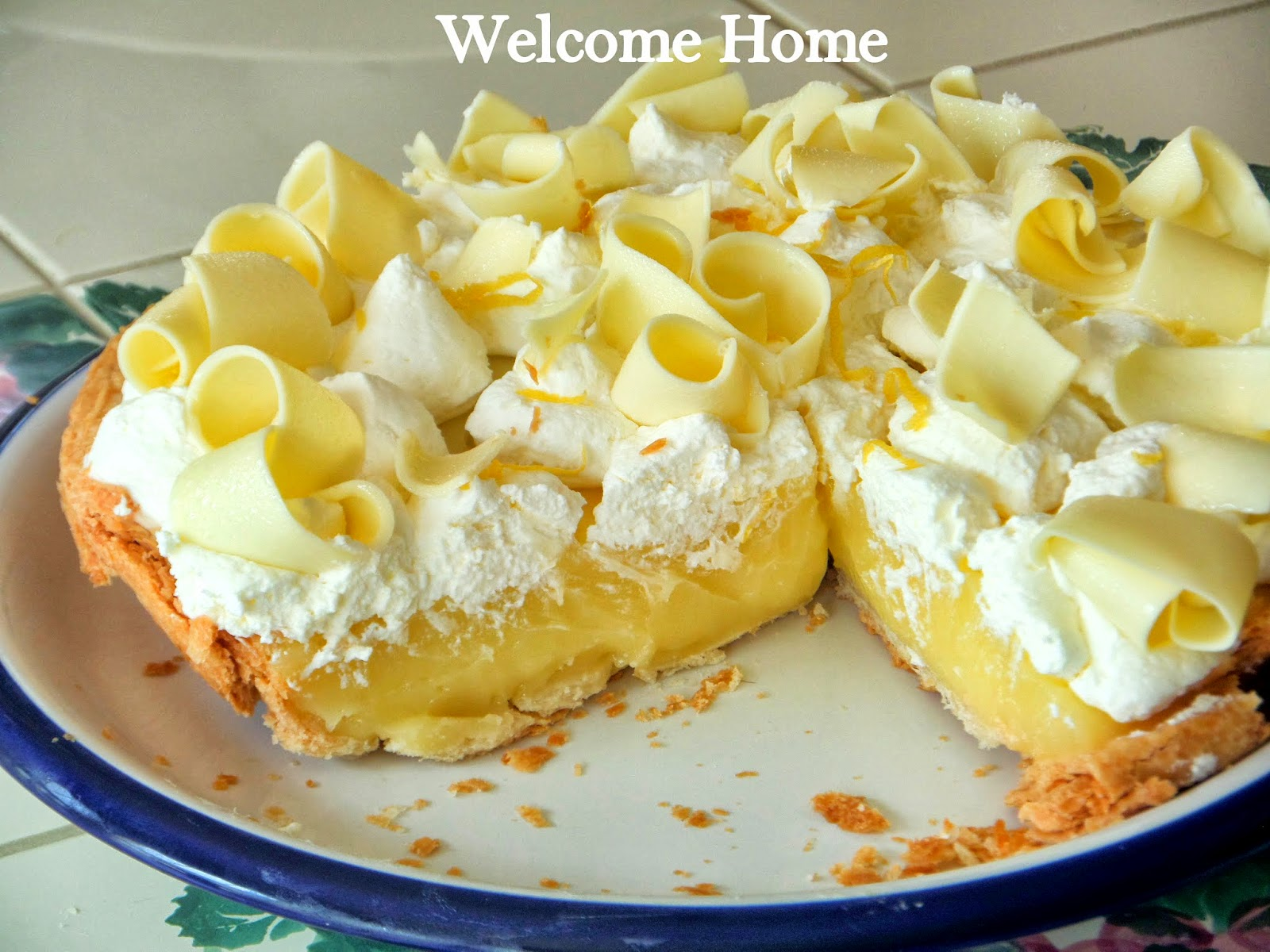 Welcome Home Blog: ♥ Mom's Lemon Cream Pie