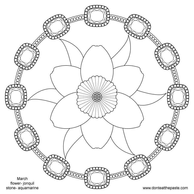 march flower coloring pages - photo#13