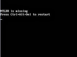 NTLDR MISSING, gagal booting, gk bs booting, black screen, restart terus