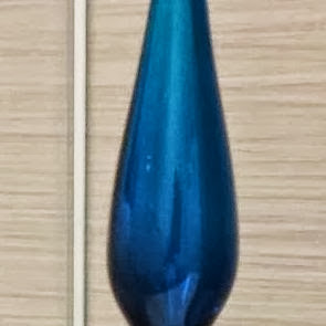 Blue Glass Genie Bottle Blenko