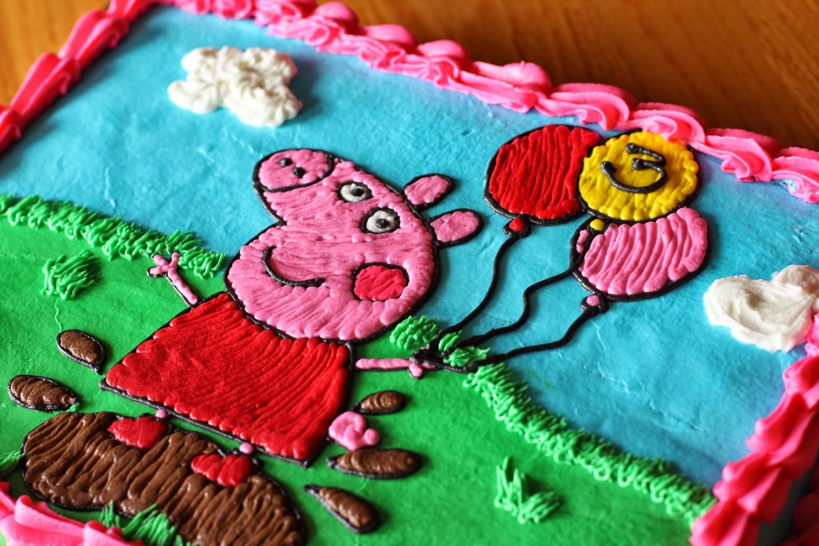 The Gano S Happy 3rd Bithday Peppa Pig Sheet Cake