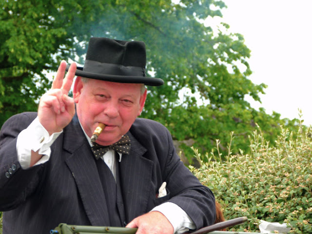 Winston Churchill, Ingleton, 1940s weekend, Yorkshire