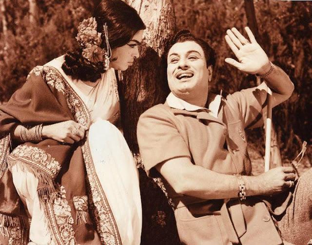 MGR & Saroja Devi in 'Anbe vaa'