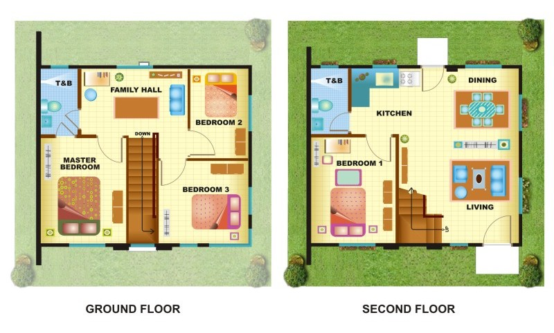 100 square meters house plan 2 storey house plans - Case study home designs for apartments undersquare meters ...