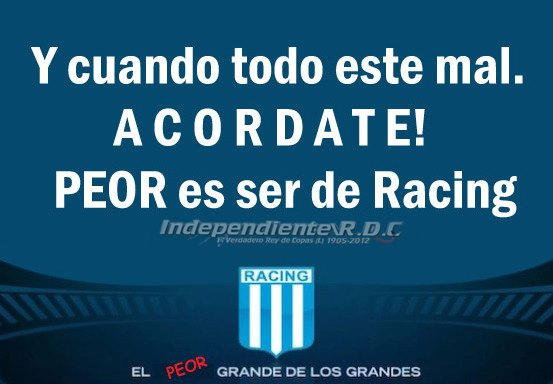 Racing carga a Independiente por su presente