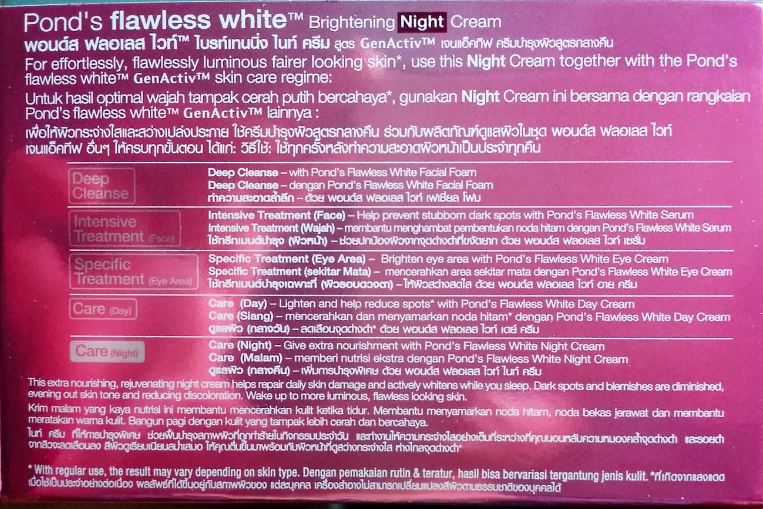 Lakwatserang Bulakenya Bdj Box Unboxing March Ponds Exclusive Flawless White Ultra Luminous Serum 30ml Re Brightening Night Cream 50g Php340