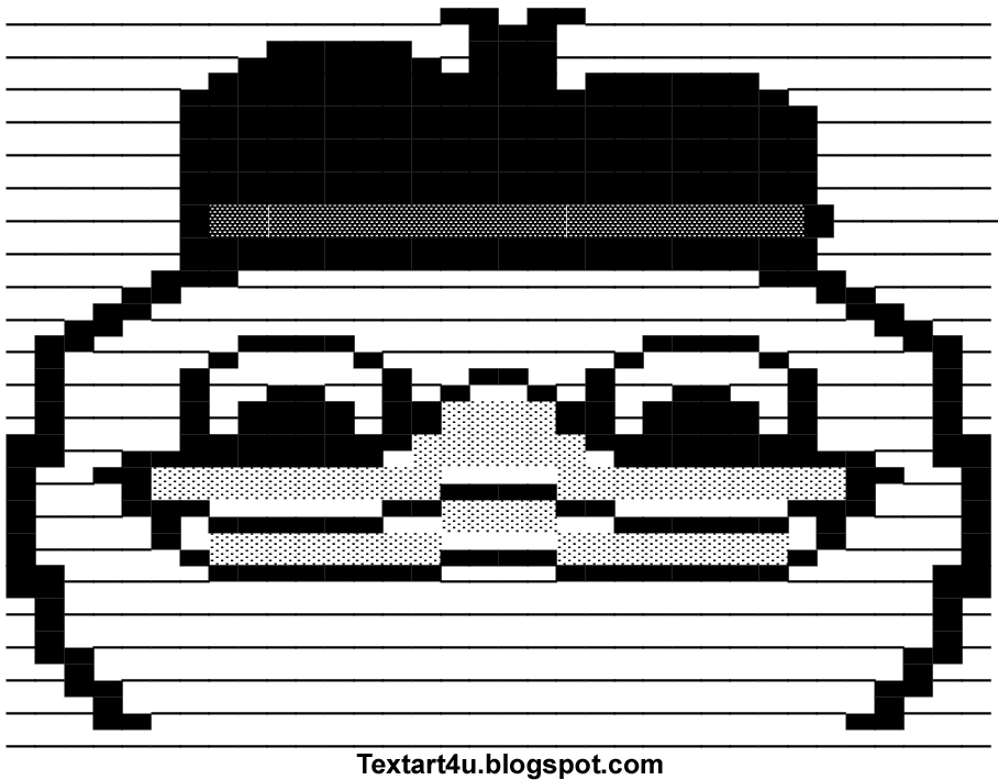 One Line Ascii Art Dog : Memes ascii images dolan duck meme art for