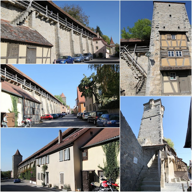 More pictures of the tower and city wall in Rothenburg, Germany