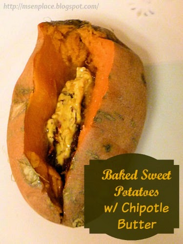 Baked Sweet Potatoes w/ Chipotle Butter | Ms. enPlace