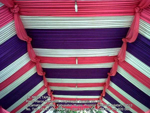 Plafond Ungu Putih Pink