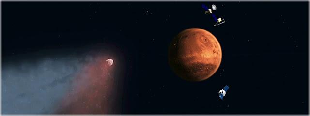 chuva de meteoros em Marte - cometa Siding Spring