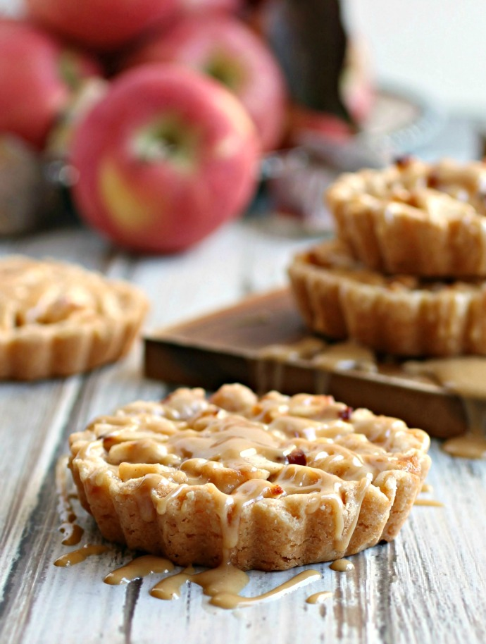 Peanut Apple Tarts with Peanut Butter Glaze