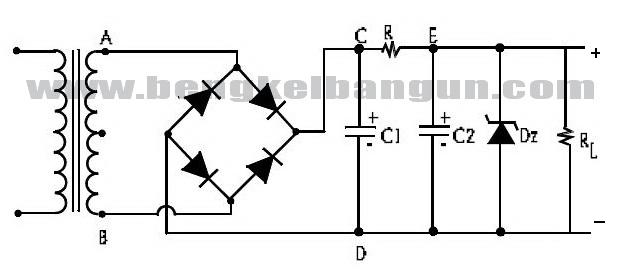 rangkaian dioda zener pada sistim pengisian baterai