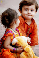 Kids Images Photos With Orange Dress Babies Pictures