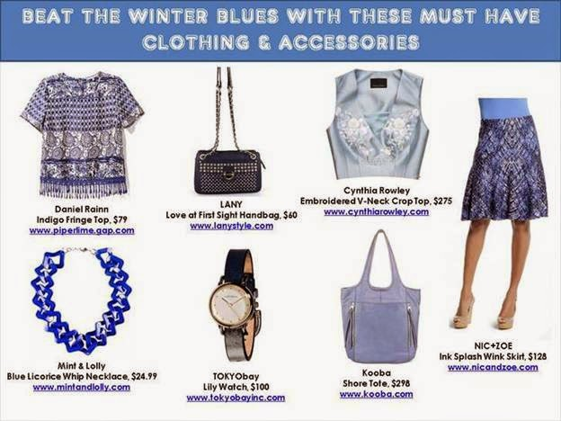 Blue clothing and accessories winter 2015