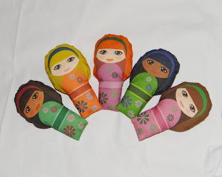 Kokeshi Style Fabric Dolls