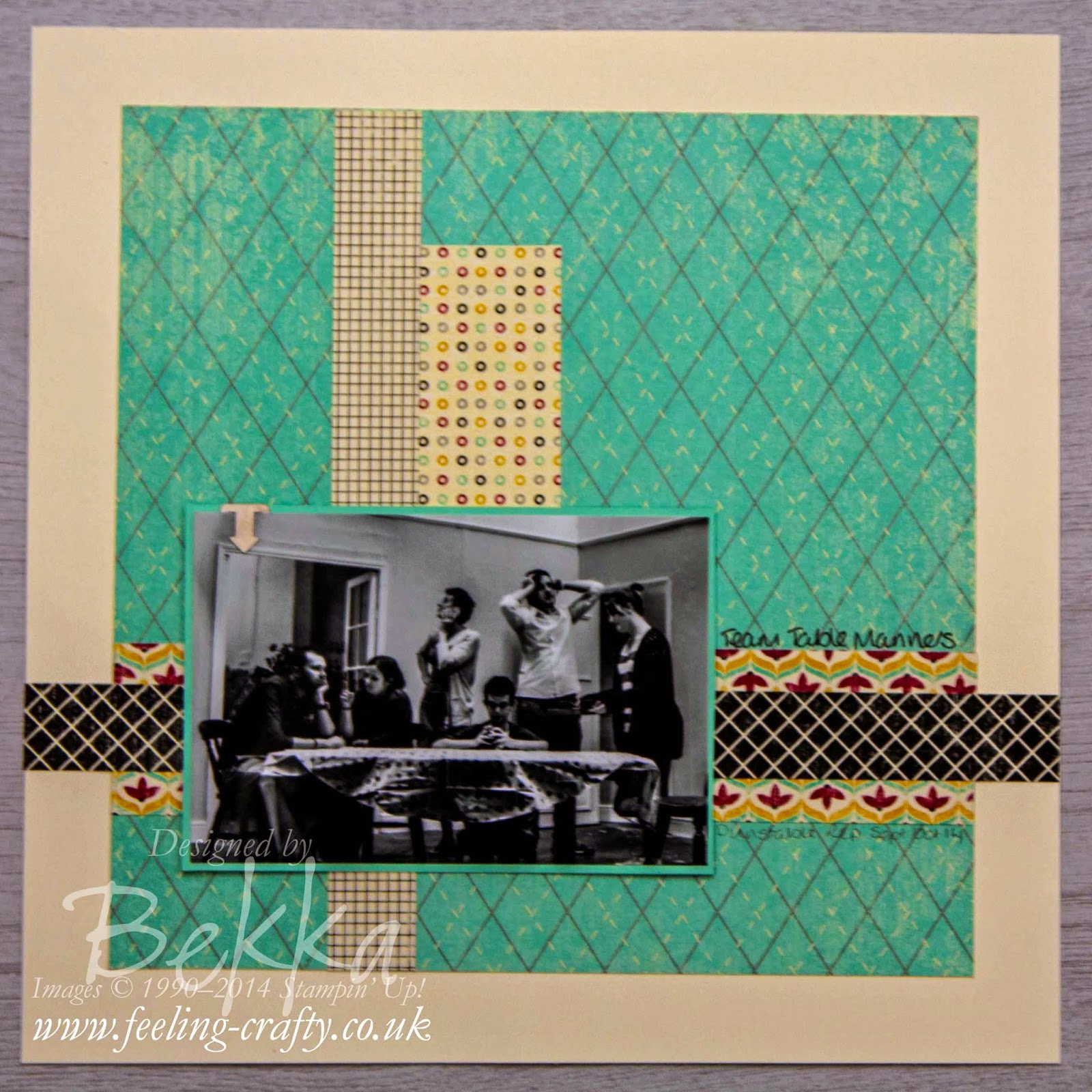Flashback Scrapbook Page by Stampin' Up! UK Independent Demonstrator Bekka