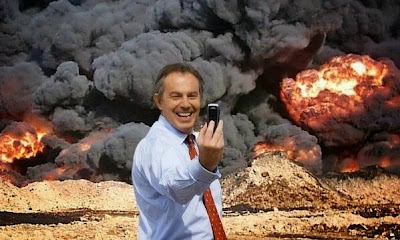 Tony Blair mock-selfie