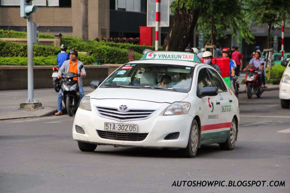 Vietnam Taxi Toyota Vios Second Generation
