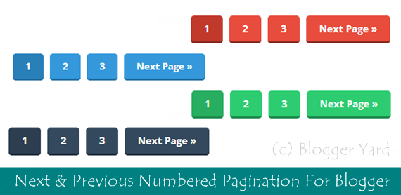 How To Add Next & Previous Numbered Pagination in Blogger