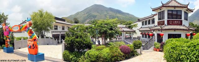 Pueblo turístico Ngong Ping en Lantau