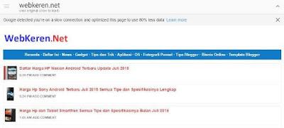 Website untuk Koneksi Internet Lambat dan Irit Kuota (Google Web Light)