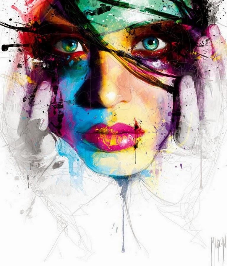 rostros-modernos-pintados-al-oleo
