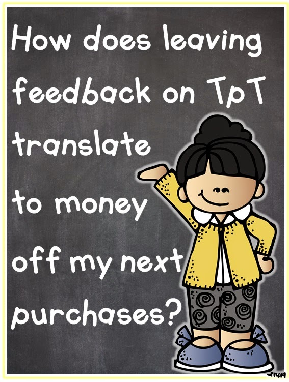 Leaving TpT feedback and earning points.  How does it work?